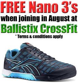 Free Nano's when joining Ballistix CrossFit Somerset West